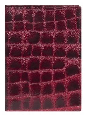 Обложка для автодокументов Alliance 0-257кроко вино