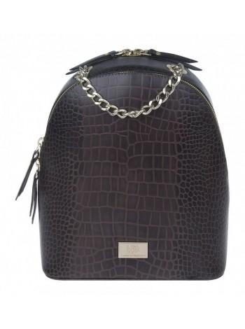 Рюкзак женский кожаный Franchesco Mariscotti 1-4225к тр кайман корич.