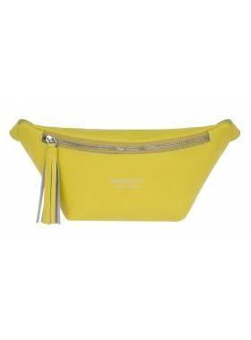 Сумка поясная женская желтая Franchesco Mariscotti 1-4614к-038 лимон