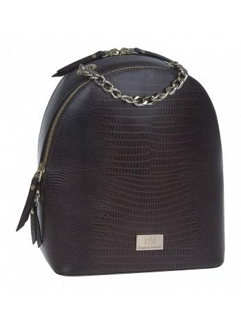 Рюкзак женский кожаный Franchesco Mariscotti 1-4225к тр игуана корич.