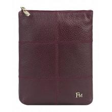 Сумка женская планшет из кожи Franchesco Mariscotti 1-4109к-030 вишня
