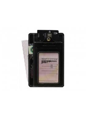 Обложка для автодокументов из кожи ОВ-S черный Apache RFID