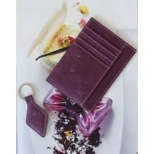 Обложка для автодокументов женская из натуральной кожи ОВ-М Мэри фиолетовый Kniksen