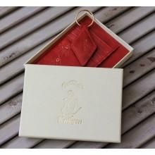 Обложка для автодокументов женская из натуральной кожи ОВ-М Мэри пулл-уп Kniksen красный