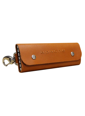 Ключница из кожи КБ-А рыжий Apache