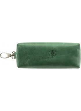 Ключница из натуральной кожи друид зеленый С-КМ-2 Флауэрс