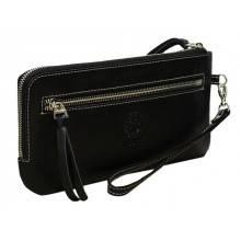Клатч мужской портмоне с молнией ФРТ-S черное Apache RFID