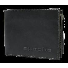 Портмоне мужское МК-3-L limited черного и серого цвета Apache