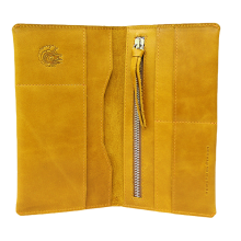 Портмоне путешественника для документов и денег Вояж табачно-желтое Apache
