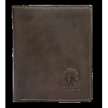 Портмоне мужское кожаное для документов и денег ВП-А дымчато-коричневая Apache
