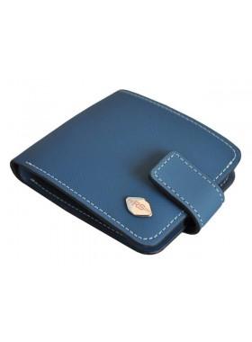 Портмоне из натуральной кожи мужское КО-RS Blue синий RS