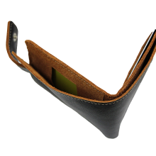 Портмоне из натуральной кожи мужское KO-RS черный RS