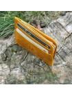 Картхолдер из натуральной кожи ФК-2-А желтый Apache