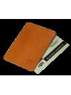 Картхолдер для пластиковых карт из кожи ФПК-2-S рыжий Apache с защитой RFID