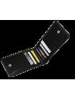 Кредитница мужская из натуральной кожи ФСК-2-S черный Apache с защитой RFID
