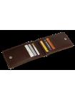 Кредитница мужская из натуральной кожи ФСК-2-S коричневый Apache с защитой RFID