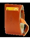 Картхолдер из натуральной кожи ФСК-S рыжий Apache с защитой RFID