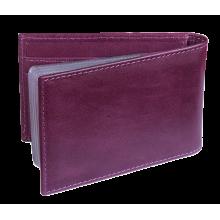 Визитница кредитница женская для пластиковых карт кожаная ВМ-9 Мэри фиолетовый Kniksen