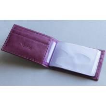 Футляр для кредитных карт кожа ВМ-9 Мэри фиолетовый Kniksen