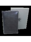 Обложка для паспорта из натуральной кожи ОП-L limited черная Apache