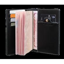 Обложка для паспорта кожаная ОП-S черная Apache с защитой RFID