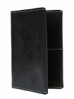 Обложка на паспорт натуральная кожа ОП-2-A дымчато-черная Apache