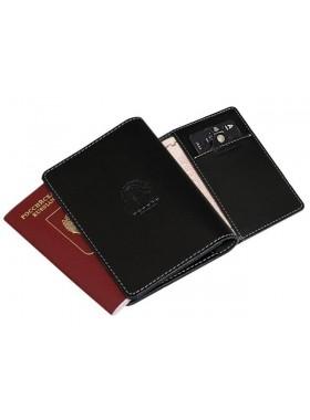 Обложка для паспорта ОП-S черная Apache RFID