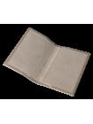Обложка для паспорта женская кожаная С-ОП-1 друид серый Флауэрс