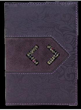 Обложка на паспорт женская натуральная кожа ОП-16 lancetta фиолетовый Kniksen