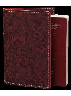 Обложка для паспорта аляска красная Person