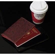Обложка для паспорта женская натуральная кожа ОП-Ф аляска красная Person