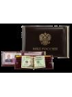 Обложка для удостоверения МВД зажим для денег и карт КУ-4 ш красный Person