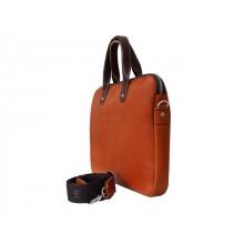 Мужская сумка на плечо из натуральной кожи 9313 рыжая Apache