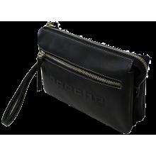 Барсетка клатч мужской кожаный дымчато-черный CM-8013-A Apache