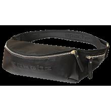 Сумка поясная черная СП-5014-А иск. кожа Apache