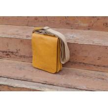 Мужская сумка планшет из кожи табачно-желтая СМ-7013 Apache