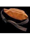 Сумка поясная мужская из натуральной кожи А-СП-5113 Авиатика коричнево-рыжая