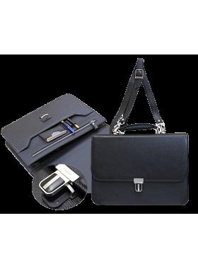 Кожаный деловой портфель Д-2 Person
