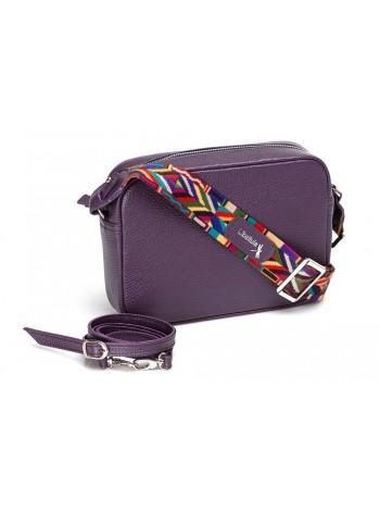 Женская сумка кросс боди натуральная кожа Libellula фиолетовый Person