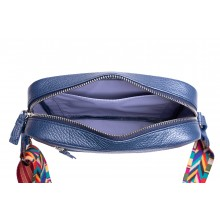 Женская сумка кросс боди натуральная кожа Libellula перламутр синий Person