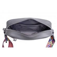 Женская сумка кросс боди натуральная кожа Libellula светло-серый Person