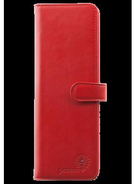Большая визитница для пластиковых карт женская из кожи С-ВМ-6 люкс красный Флауэрс