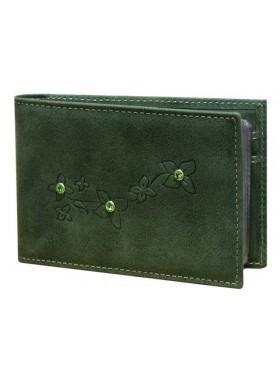 Визитница кредитница женская для пластиковых карт кожаная ВМ-9 Мэри зеленый Kniksen