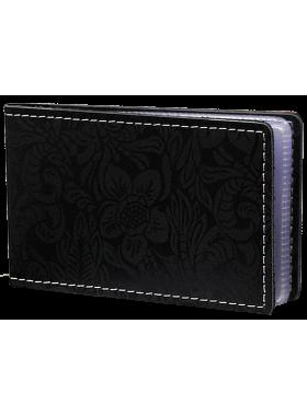 Футляр для кредитных карт и визиток кожаный ВМ-Ф аляска черный Person