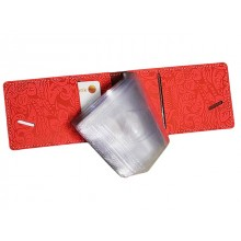 Футляр для кредитных карт и визиток кожаный ВМ-Ф аляска коралл Person