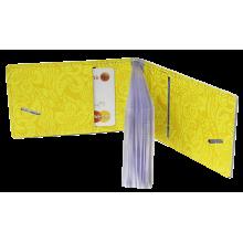 Футляр для кредитных карт и визиток кожаный ВМ-Ф аляска желтый Person