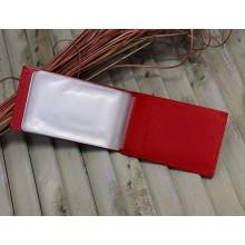 Визитницы для карт кожаная женская ВМ люкс красный Person