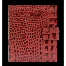 Визитница кредитница женская натуральная кожа кайман красный ВС-1 Person
