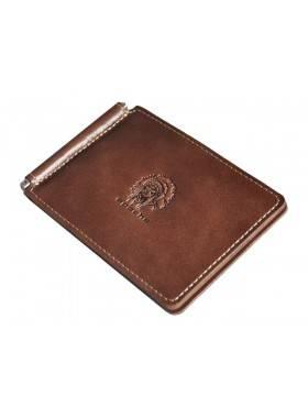 Зажим для денег натуральная кожа ОК-3-А дымчато-коричневый Apache