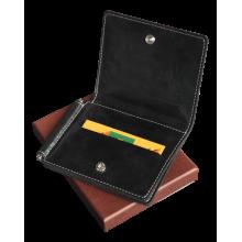 Кошелек с зажимом для денег и карт из натуральной кожи ОК-4-А дымчато-черный Apache
